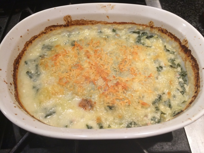 Bok Choy Gratin, golden and delicious